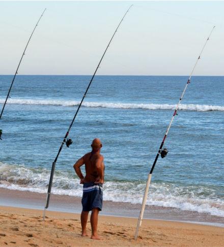 Pescar na praia